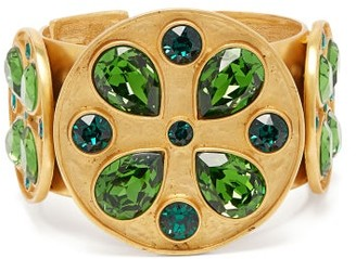 Swarovski Rebecca De Ravenel - Pamina Gold Plated Crystal Cuff - Womens - Green