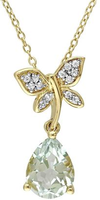 Laura Ashley Sterling Silver Amethyst & White Sapphire Dragonfly Pendant Necklace $600 thestylecure.com