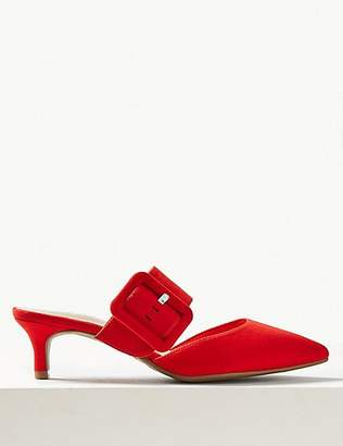 M&S Collection Extra Wide Fit Kitten Heel Mule Shoes