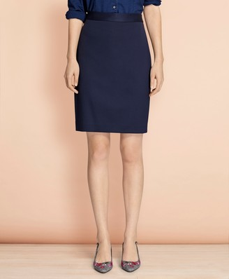 Brooks Brothers Stretch Wool Pencil Skirt