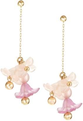 Kate Spade Full Floret Statement Linear Earrings