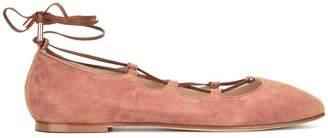 Anna Baiguera lace-up ballerina flats