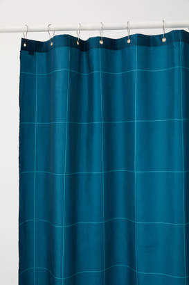 H&M Patterned Shower Curtain - Turquoise