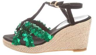 Sonia Rykiel Sonia by Sequined Wedge Sandals