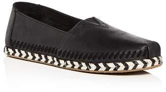 Toms Women's Classic Leather Espadrille Flats