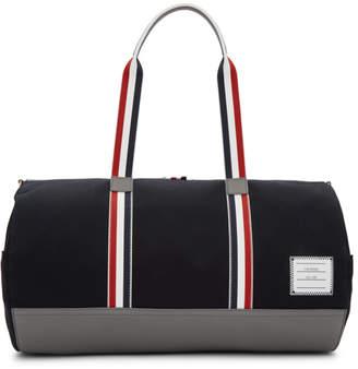 Thom Browne Navy Gym Duffle Bag