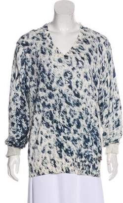 Just Cavalli Printed V-Neck Sweater