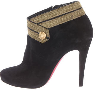 Christian Louboutin Christian Louboutin Marychal 100 Suede Ankle Boots