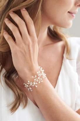 Crystal Pearl Wild Lilies Jewelry Bracelet