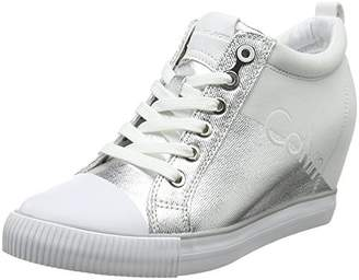 Calvin Klein Jeans Women's Rory Metal Canvas/Flocking Hi-Top Trainers