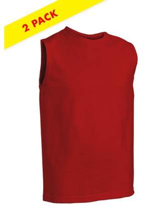 Fruit of the Loom Boys Hemmed Armhole Sleeveless T-Shirts, 2 Pack