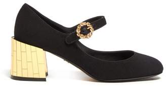 Dolce & Gabbana Mirrored Crystal Embellished Mary Jane Pumps - Womens - Black Gold