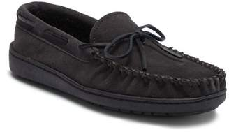 Minnetonka Tory Traditional Trapper Faux Fur Lined Suede Moccasin