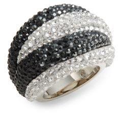 Appolon Swarovski Crystal Dome Ring $300 thestylecure.com