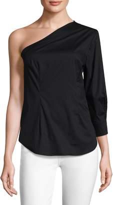 Tracy Reese Women's Cotton Asymmetrical Top
