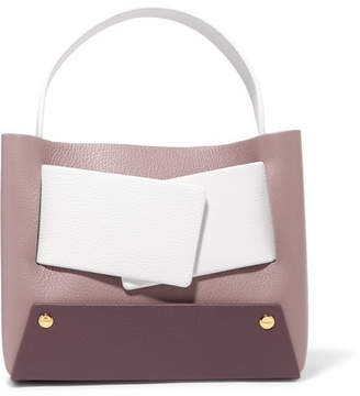 Yuzefi - Dinky Small Color-block Textured-leather Tote - Purple