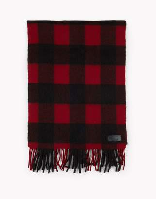 DSQUARED2 Buffalo Check Wool Flannel Scarf