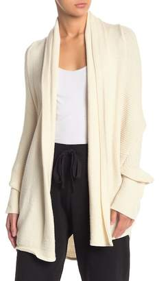 Wishlist Shawl Collar Open Front Knit Cardigan