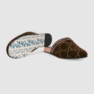 Gucci GG velvet slipper