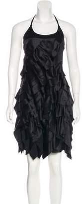 Prada Silk Ruffle Dress