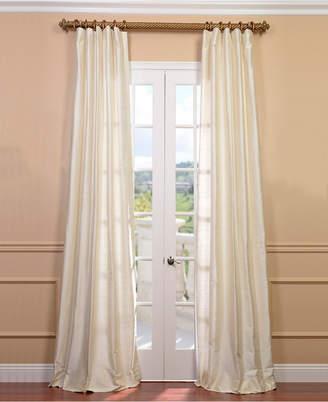 "Exclusive Fabrics & Furnishings Textured Dupioni Silk 50"" x 84"" Curtain Panel"