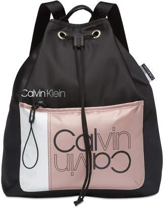 Calvin Klein Flora Drawstring Logo Backpack