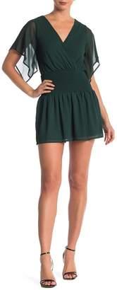 Dee Elly Smocked Short Sleeve Mini Dress