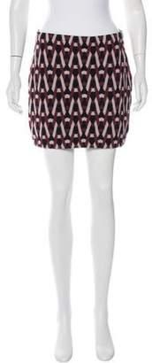 Diane von Furstenberg Jacquard Mini Skirt grey Jacquard Mini Skirt