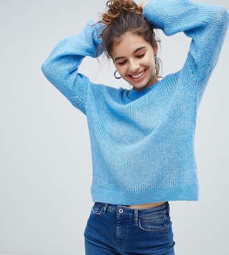 Bershka loose knit jumper in blue