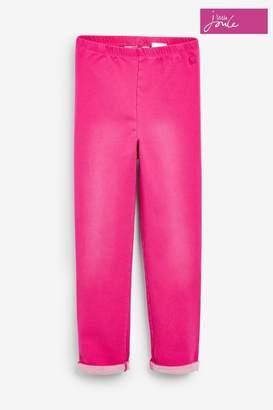 Joules Girls Pink Minnie Jersey Denim Leggings - Pink