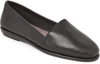 Aerosoles Black Softee Perforated Loafers