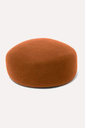 CLYDE Jeanie Wool-felt Hat - Brick