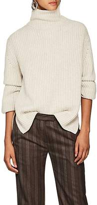 BEIGE Boon The Shop Women's Two-Tone Cashmere Turtleneck Sweater - Beige, Tan