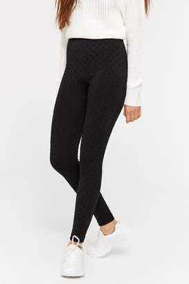 Ardene Cozy Velvet Polka Dot Leggings
