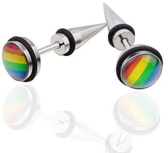 Laprapha_Earrings Laprapha High Quality Titanium Steel Stud Earrings Fashion Beautiful Jewelry Unisex Round Shaped Earring