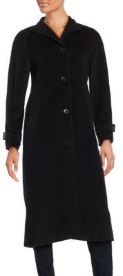 JONES NEW YORK Long Wool Blend Walker Coat $400 thestylecure.com