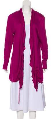 Magaschoni Silk Open Front Cardigan