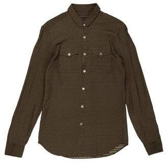 Burberry Silk Patterned Button-Up Shirt