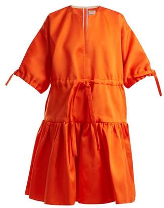 Maison Rabih Kayrouz Tie Waist Satin Dress - Womens - Orange