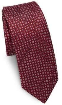 Two-Tone Square Dot Silk Tie