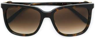 Cartier C Décor tortoiseshell square sunglasses