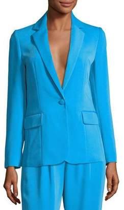 Frame True Notched-Collar One-Button Blazer