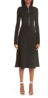A-Line Stretch Crepe Dress