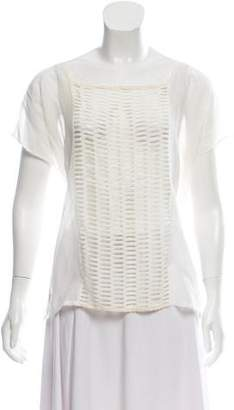 Band Of Outsiders Cutout Short Sleeve Top