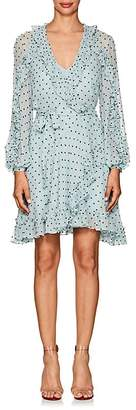 Zimmermann Women's Whitewave Polka Dot Georgette Wrap Dress