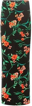 Dorothy Perkins Womens **Tall Black Tammy Tropical Maxi Skirt
