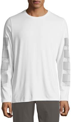 Pe360 Men's Stripe-Sleeve Sports Tee