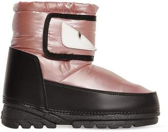 Fendi Monster Eyes Nylon Snow Boots