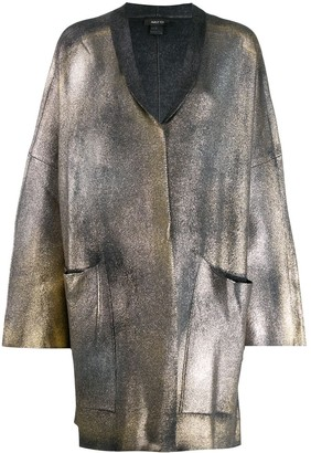 Avant Toi coated metallic cardigan