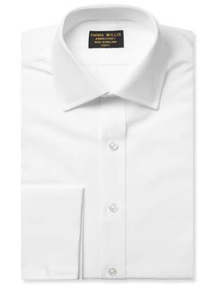 Emma Willis White Double-Cuff Cotton Shirt